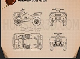 Kawasaki Bruteforce 750 2014 Blueprint