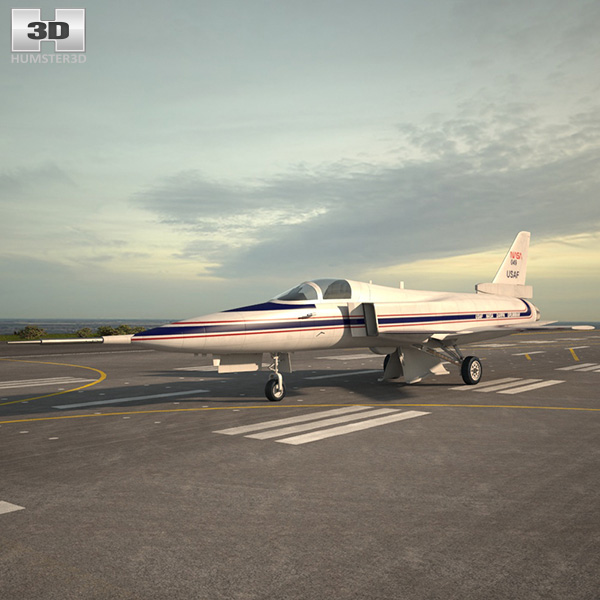 3D model of Grumman X-29