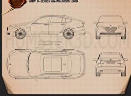 BMW 5 series Gran Turismo 2011 Blueprint