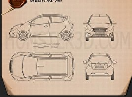 Chevrolet Spark (Beat) 2010 Blueprint