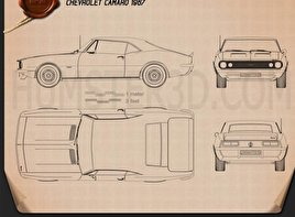 Great Chevrolet Camaro SS 1967 Blueprint