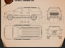Chevrolet Suburban Blueprint