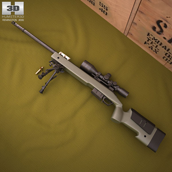 3D model of Remington M40A5