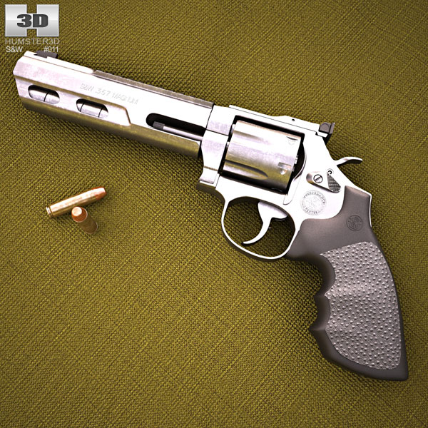 3D model of Smith & Wesson Model 686