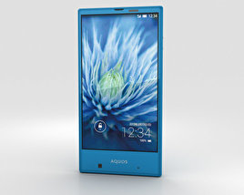Sharp Aquos Serie mini SHV31 Blue 3D model