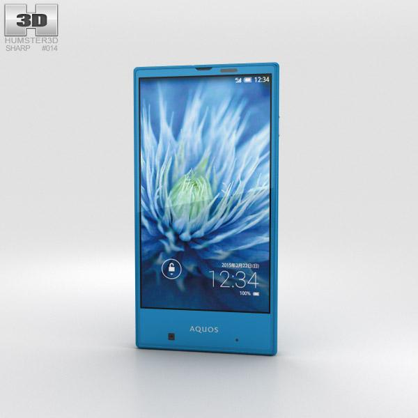 Sharp Aquos Serie mini SHV31 Blue 3D-Modell