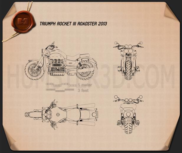 Triumph Rocket III Roadster 2013 Plan