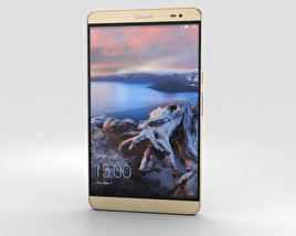 3D model of Huawei MediaPad X2 Amber Gold