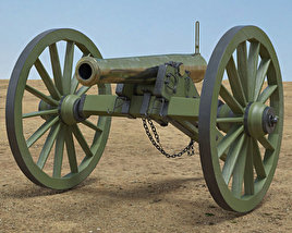 3D model of Model 1857 12-Pounder Napoleon