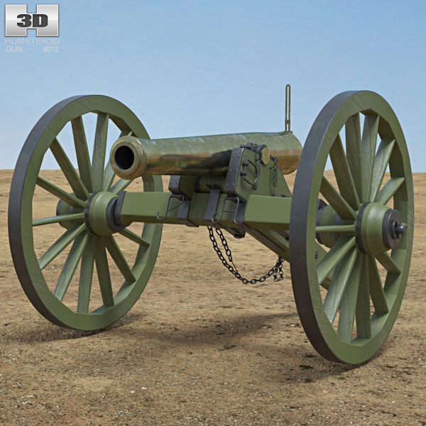 Model 1857 12-Pounder Napoleon Cannon 3D model