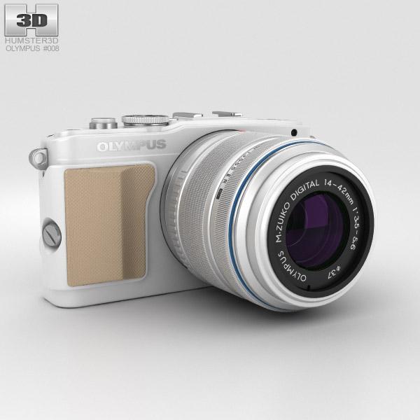 Olympus PEN E-PL5 Weiß 3D-Modell