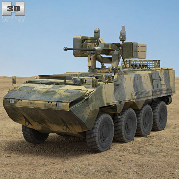 Pandur II 8X8 Armoured Personnel Carrier 3D model