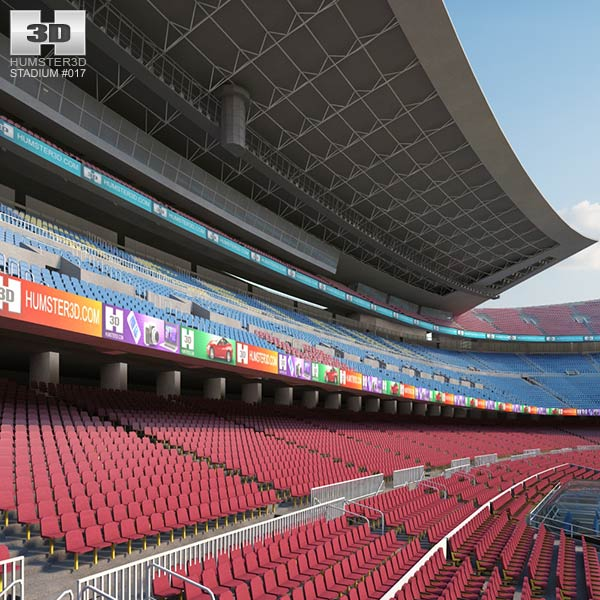 3D model of Camp Nou