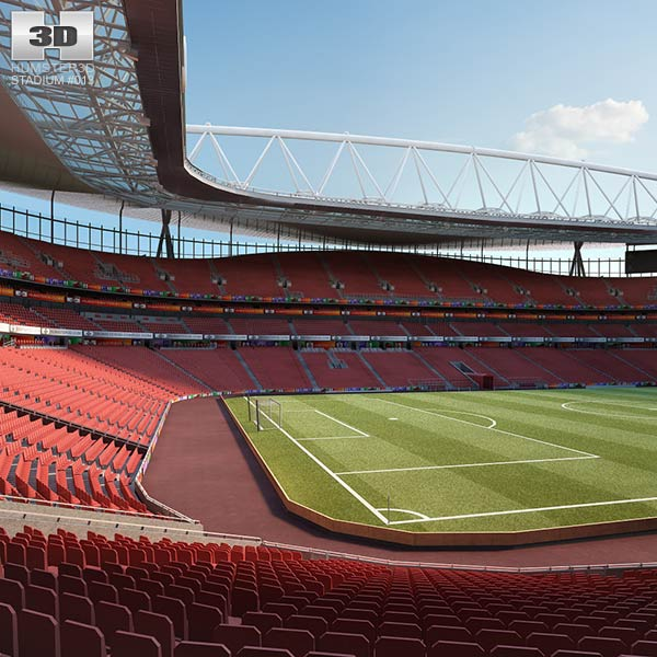 3D model of Emirates Stadium