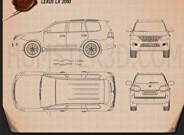 Lexus LX 570 (J200) Blueprint