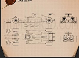 Lotus E22 2014 Blueprint