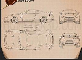 Nissan GT-R 2008 Blueprint