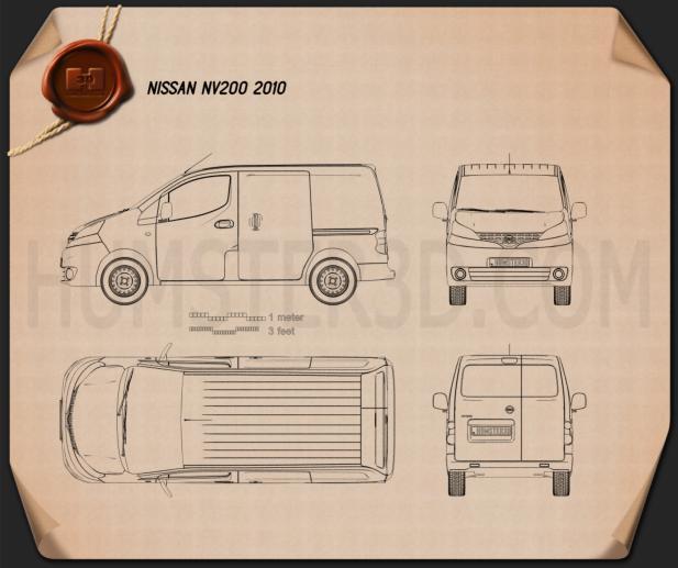 Nissan NV200 2010 Blueprint