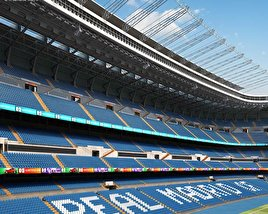 3D model of Santiago Bernabeu Stadium