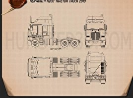 Kenworth K200 Tractor Truck 2010 Blueprint