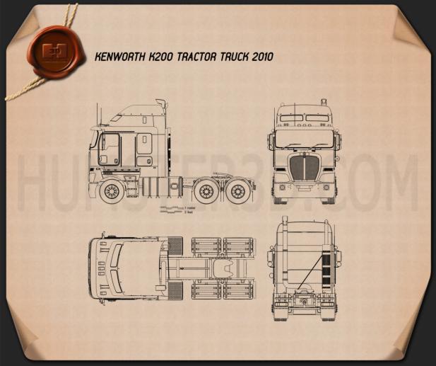 Kenworth K200 Tractor Truck 2010 Blueprint