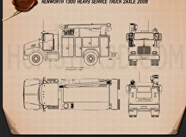 Kenworth T300 Heavy Service Truck 2006 Blueprint