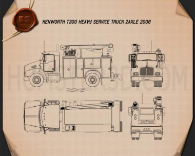 Kenworth T300 Heavy Service Truck 2006 Blueprint
