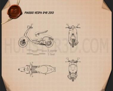 Piaggio Vespa 946 2013 Blueprint