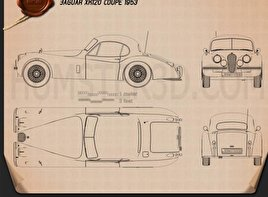 Jaguar XK120 coupe 1953 Blueprint