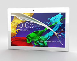 3D model of Lenovo Tab 2 A10-70 Pearl White