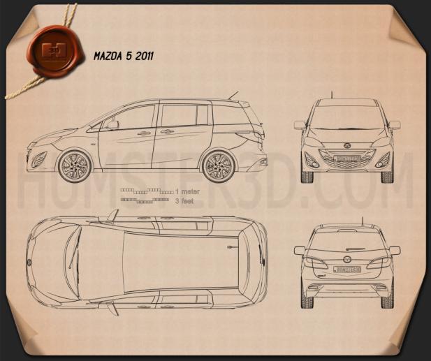 Mazda 5 (Premacy) 2011 Blueprint