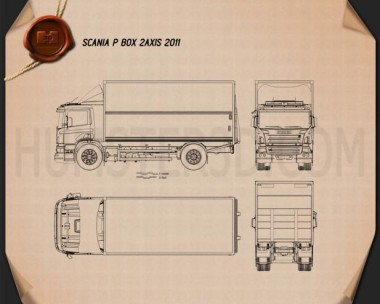 Scania P Box 2011 Blueprint