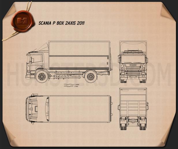 Scania P Box 2011 Blueprint