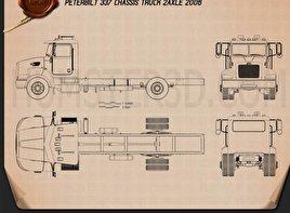 Peterbilt 337 Chassis Truck 2-axle 2006 Blueprint