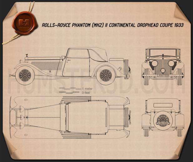 Rolls-Royce Phantom II Continental 1933 Plano