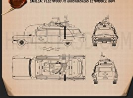 Ghostbusters Ectomobile Blueprint