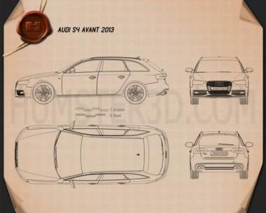 Audi S4 Avant 2013 Blueprint