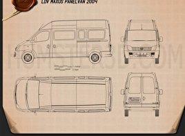 LDV Maxus Panel Van 2004 Blueprint