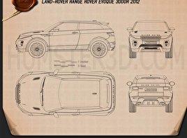 Range Rover Evoque 2011 Blueprint