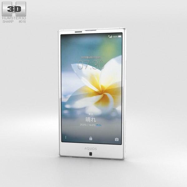 Sharp Aquos Serie SHV32 Weiß 3D-Modell