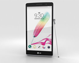 3D model of LG G Stylo Silver