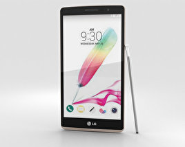 3D model of LG G Stylo White