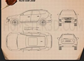 Volvo XC60 2009 Blueprint