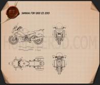 Yamaha FJR1300 ES 2013 Blueprint