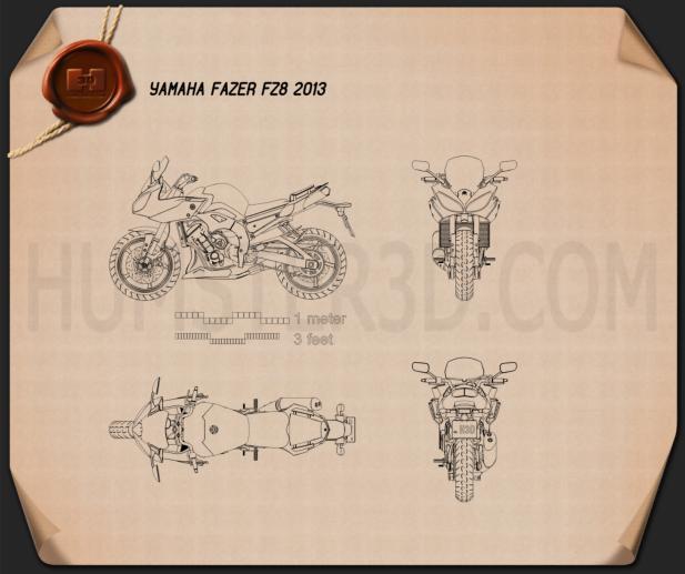Yamaha FZ8 2013 Blueprint