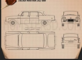 Checker Marathon (A12) 1968 Blueprint