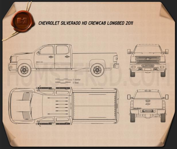 Chevrolet Silverado 3500HD 2011 Blueprint
