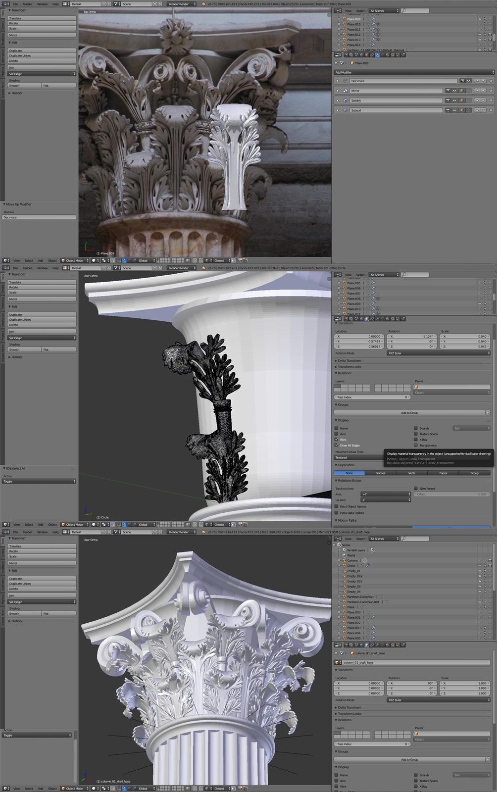 modeling of details