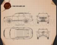 Ford Explorer 2011 Blueprint 3d model