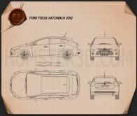 Ford Focus Hatchback 2011 Blueprint
